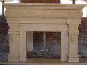 Stone Granite Marble Sculpture Fireplace
