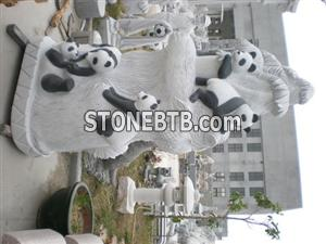Animal Stone Carving-Panda