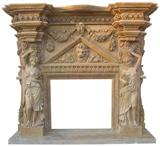 Stone Sandstone Marble Fireplace
