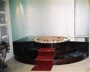 Black granite bathtub surround