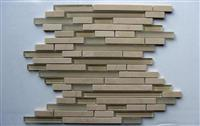 Irregular Stone Mix Glass Mosaic
