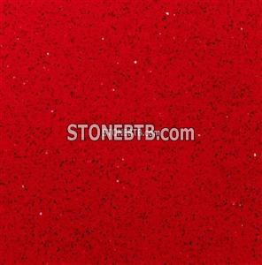 Red Artificial Quartz Stone