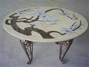 Waterjet Medallion Table Top 020