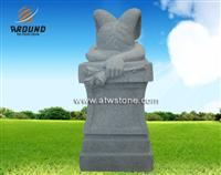 American weeping angel tombstone and monument