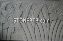 Planter in natural stone finish