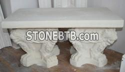Garden seat in natural stone finish