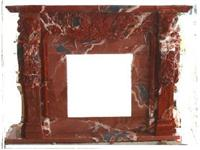 Fireplace Mantle, Red Marble