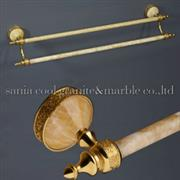 Yellow Onyx Bathroom Single Towel Bar