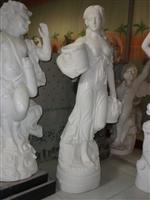 White Stone Figure Sculpture