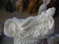 Marble Naked Woman Statue
