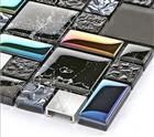 Metal mix glass mosaic tiles