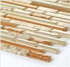 Beige stripe glass mosaic tiles glass mosaic wall tiles