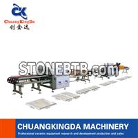 Automatic Single Blade Dry Type Ceramic Tile Cutting Squaring Production Line Machine