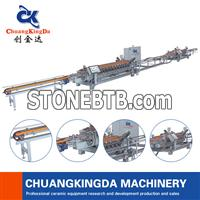 Double Side Dry Type Ceramic Tiles Squaring Chamfering Machine