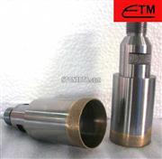 Threaded shank diamond core drill bit for glass and stone
