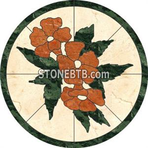Waterjet medallion - Flower