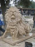 Outdoor Lion Stone Sculpture