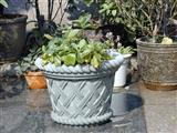 Green Sandstone Flower Bowl