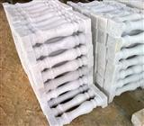 white marble stair railing