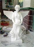 White Marble Angel Statue with Wings