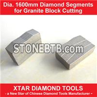 Dia.1600mm Diamond Segment for Granite Blocks Cutting