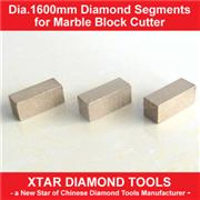 Dia.1600mm Excellent Sharpness Diamond Segment for Marble