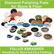 HTC floor grinding pads with soft to hard bonds