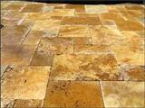 Gold Travertine - french pattern