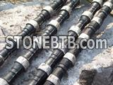 Rubberized Diamond wire saw for marble quarrying