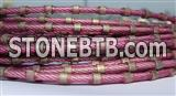 Diamond wire saw for marble profiling