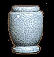 Large Gray Granite Urn