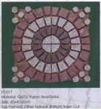 colorful paving stones on mesh