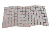 Porphyry Red/Grey Paving Stone On Mesh