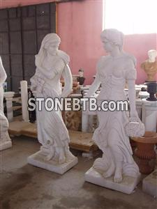 Carved Femal Stone Suclpture