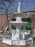 White Stone Garden Fountain