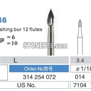 Flame Trimming And Finishing Carbide Burs