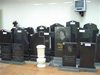 Tombstones and monuments of gabbro