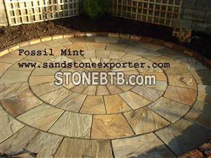 Fossil Mint Sandstone Patio
