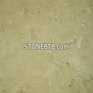 Light Unfilled Travertine Straight Edge