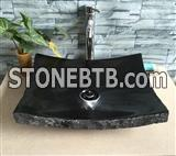 Shangxi Black Granite Stone Sink Natural Stone Wash BASIN Marble Vessel Sink