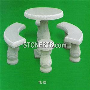 Stone Table, Granite Exterior Table Set