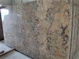 Big flower Giallo Crystal granite slab