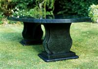 Green Marble Exterior Table