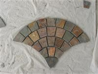 meshed paving stone, meshed fan shaped