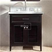 30 In Espresso Shutter Door Vanity Bathroom Cabinet