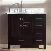 36 Inch Bathroom Vanity Espresso Solid Wood With Storage Drawers