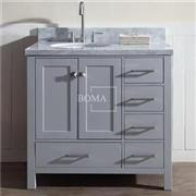 36-inch Grey Single Sink Shaker Bathroom Vanity Cabinets