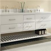 72 Open Bathroom Vanity Cabinet With Towel Rack, Sink, Top And Mirror