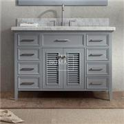 48 In Gray Cottage Bathroom Vanity Base Cabinets