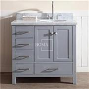36 Custom Shaker Style Bath Vanity Combo In Gray Finish